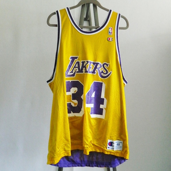 Champion Other - Champion Lakers Shaq O Neal Double Sided Jersey 48 b597e495c